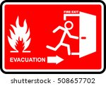 fire evacuation sign | Shutterstock .eps vector #508657702