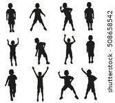 vector silhouette set of... | Shutterstock .eps vector #508658542