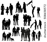 vector silhouette set of... | Shutterstock .eps vector #508658572