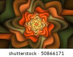 Floral fractal background image for cards, brochures, etc - stock photo