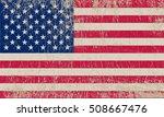 grunge usa flag. | Shutterstock .eps vector #508667476