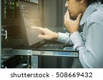system administrator working in ... | Shutterstock . vector #508669432