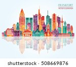 frankfurt germany  detailed... | Shutterstock .eps vector #508669876