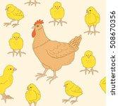 hand drawn vector seamless... | Shutterstock .eps vector #508670356