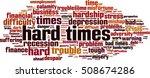 hard times word cloud concept....   Shutterstock .eps vector #508674286