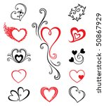 Hearts   Tattoo Set 2