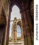 Small photo of Melrose Abbey, Scotland