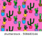pattern of cactus.cactus... | Shutterstock .eps vector #508683166