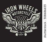 motorcycle engine repair... | Shutterstock .eps vector #508686655