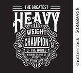 boxing sport typography  t... | Shutterstock .eps vector #508686928