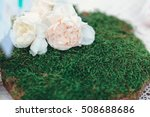 wood hand made welcome wedding... | Shutterstock . vector #508688686