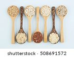 various varieties of rice and... | Shutterstock . vector #508691572