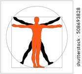 leonardo da vinci vitruvian man ... | Shutterstock .eps vector #508693828