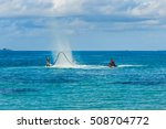 fly board and jet ski in the... | Shutterstock . vector #508704772