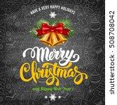 christmas greeting design...   Shutterstock .eps vector #508708042