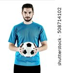soccer player man isolated | Shutterstock . vector #508714102
