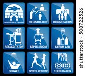 set of medical icons in blue... | Shutterstock .eps vector #508722526