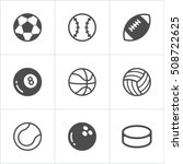 sport balls trendy flat icons.... | Shutterstock .eps vector #508722625