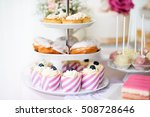 tarts  crem puffs  cupcakes on... | Shutterstock . vector #508728646