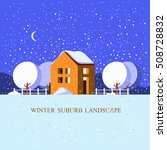 winter landscap .vector... | Shutterstock .eps vector #508728832