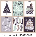 vector collection of christmas... | Shutterstock .eps vector #508730092