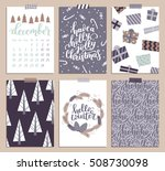 vector collection of christmas... | Shutterstock .eps vector #508730098