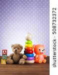 pile of toys  collection on... | Shutterstock . vector #508732372