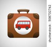 concept travel suitcase vintage ... | Shutterstock .eps vector #508732762