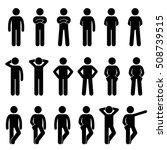 various basic standing human... | Shutterstock . vector #508739515