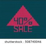 40  arrow banner sale... | Shutterstock .eps vector #508740046