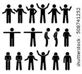 various body gestures hand... | Shutterstock .eps vector #508741252