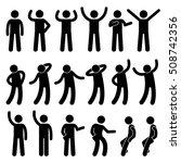 various standing postures poses ... | Shutterstock . vector #508742356