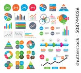 business charts. growth graph.... | Shutterstock .eps vector #508744036