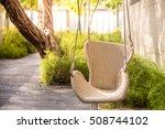 children swing in the park ... | Shutterstock . vector #508744102