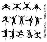 various jumper human man people ... | Shutterstock . vector #508747525