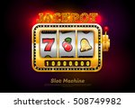 slot machine and symbol.vector... | Shutterstock .eps vector #508749982