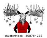 merry christmas in cursive... | Shutterstock . vector #508754236