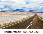Asphalted Road Through The...