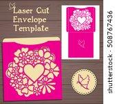 lasercut vector wedding...   Shutterstock .eps vector #508767436