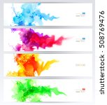 set of four banners  abstract... | Shutterstock .eps vector #508769476