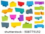 vector origami banner label...   Shutterstock .eps vector #508775152