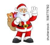 santa claus character vector... | Shutterstock .eps vector #508775782