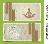 nature abstract eco banners set ... | Shutterstock .eps vector #508783822