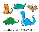 dinosaur cartoon draw | Shutterstock .eps vector #508795852