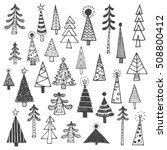 christmas tree white spruce fir ... | Shutterstock .eps vector #508800412