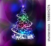 elegant shiny new year  ... | Shutterstock .eps vector #508804276