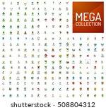 logo mega collection  abstract... | Shutterstock . vector #508804312