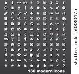130 vector icons set | Shutterstock .eps vector #50880475
