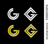 geometric initials with letter...   Shutterstock .eps vector #508805896
