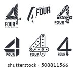 set of black and white number... | Shutterstock .eps vector #508811566